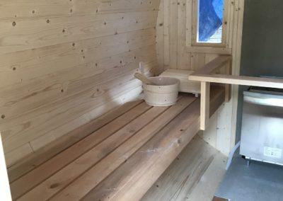 Consruction d'un Sauna Tonneau à SOUCHT (1)
