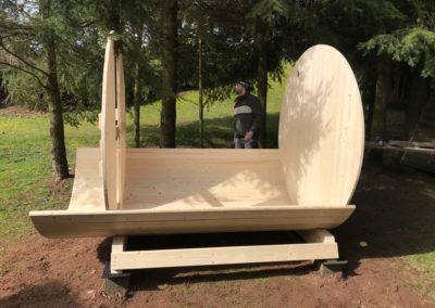 Consruction d'un Sauna Tonneau à SOUCHT (4) (1)
