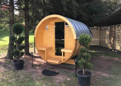 Construction d'un Sauna Tonneau à SOUCHT (1)